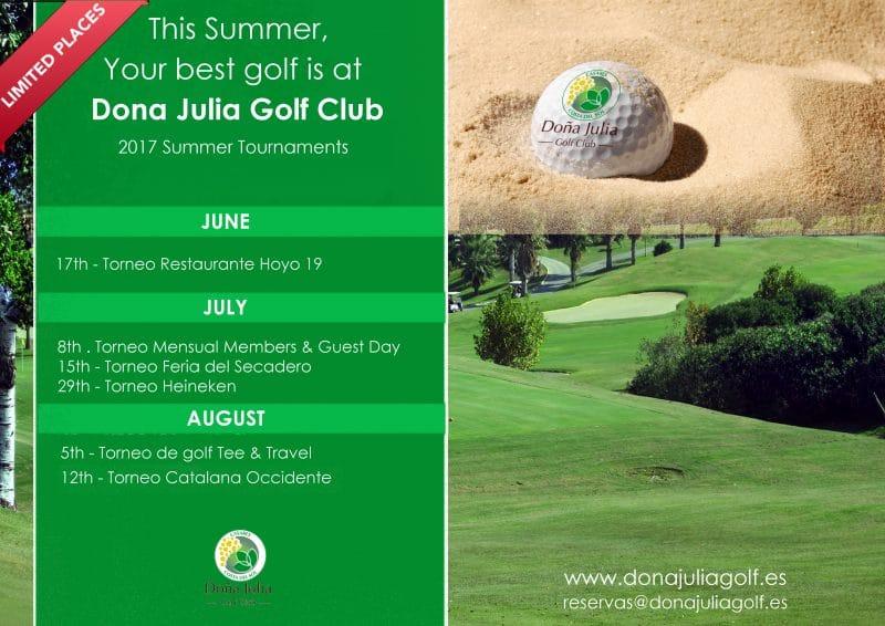 Torneos de Verano Doña Julia Golf 2017