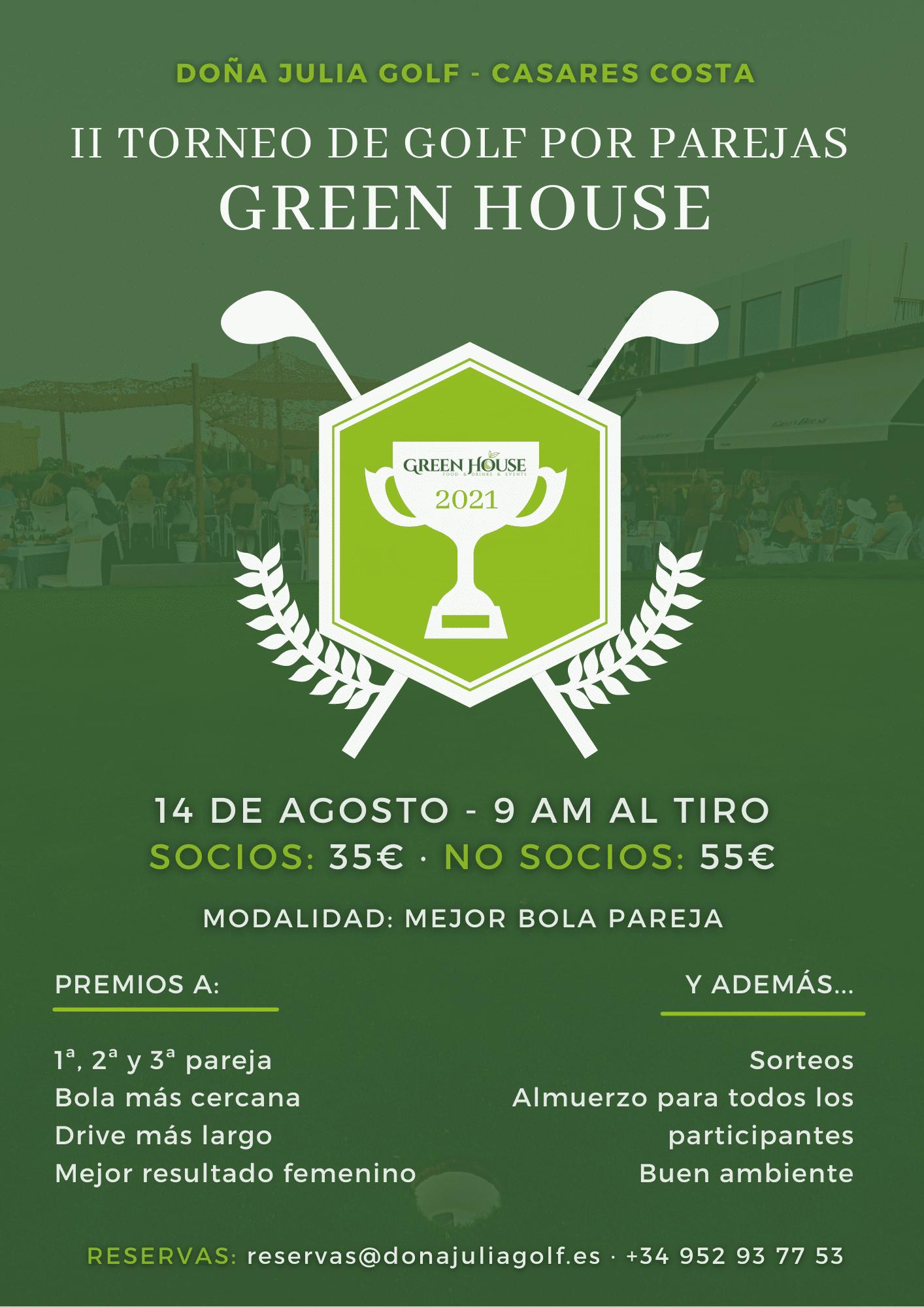 II Torneo de Golf Green House Doña Julia