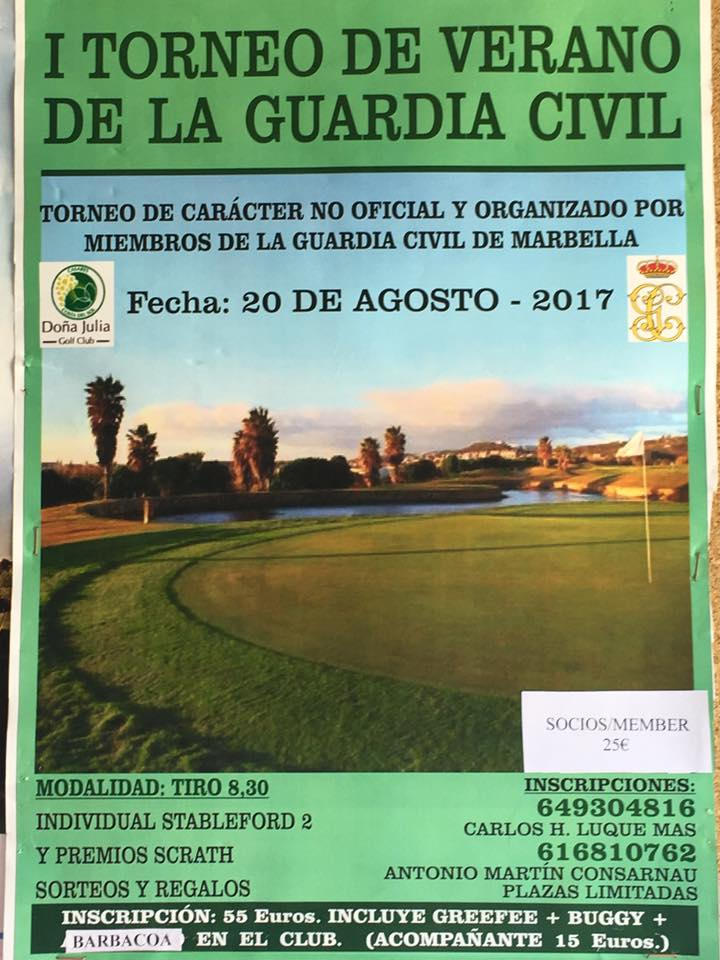 TORNEO DE GOLF DE VERANO DE LA GUARDIA CIVIL