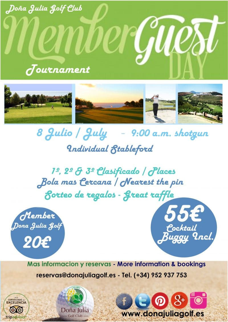 Torneo mensual socios e invitados doña julia golfournament dona julia golf