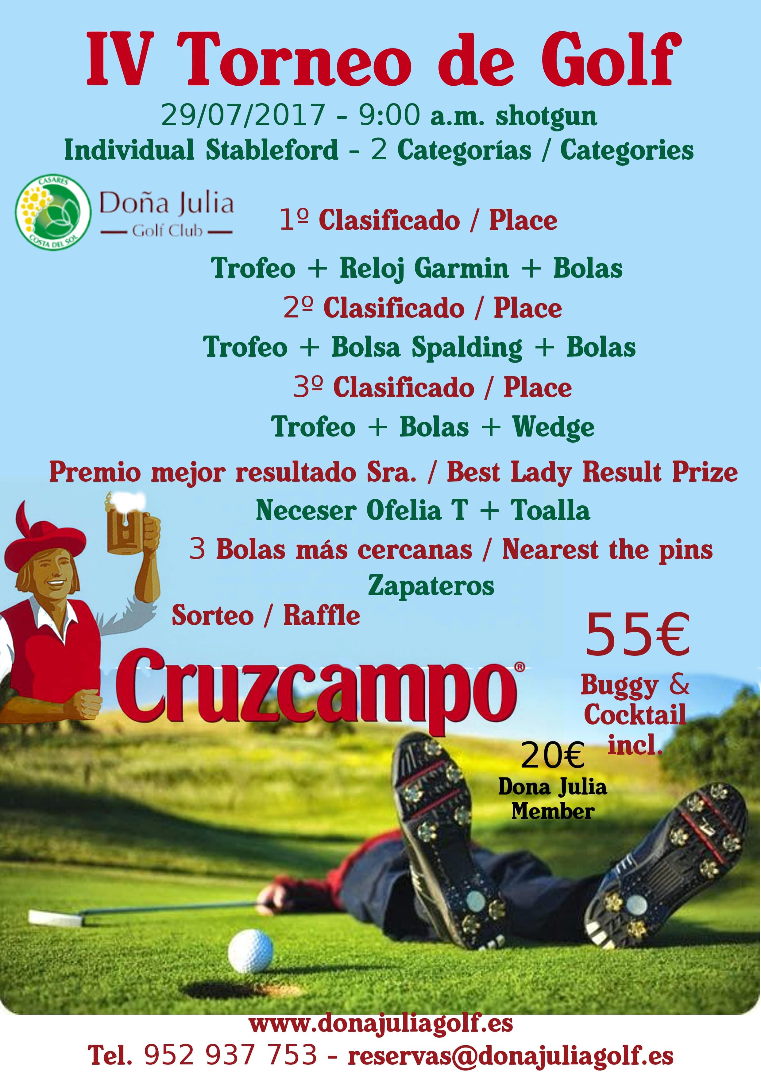 Golf Tournament Cruzcampo Doña Julia Golf