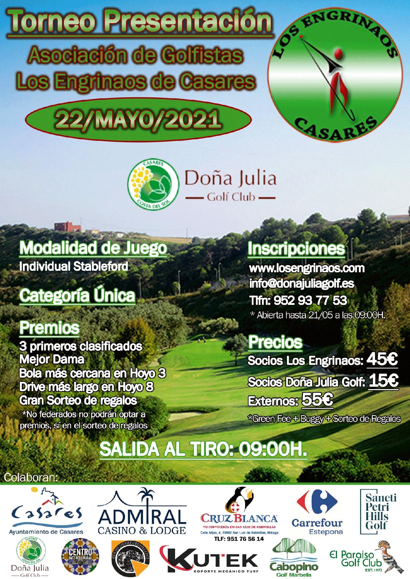 torneo presentación asociación de golfistas los engrinaos de casares